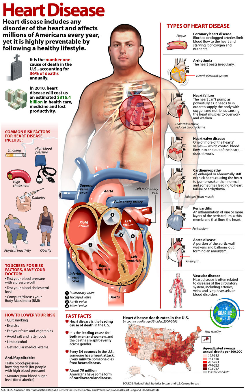 Facts about heart disease.