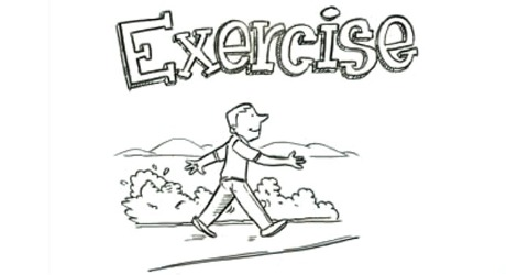 Exercise to improve health.