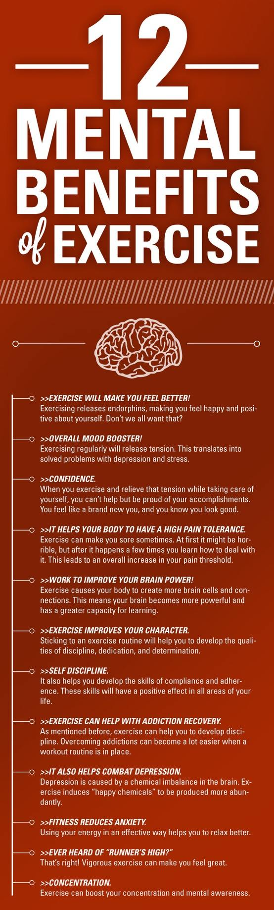 Exercise for mental wellness.