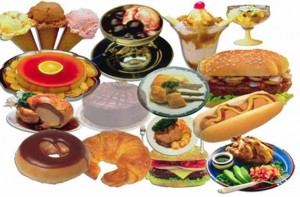 Foods high in cholesterol, photo labeled for commercial reuse.